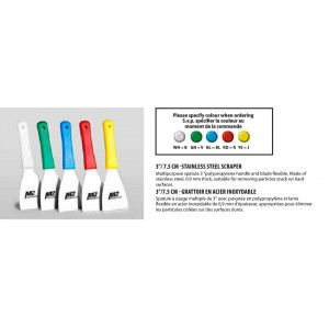 "3""Stainless Steel Spatula 0.9mm Thick - White Pack of 12       Price Per    EA"