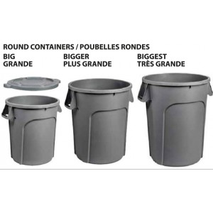 44G Garbage Container - Grey Pack of 1       Price Per    EA
