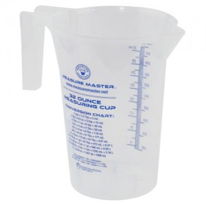 Graduated Round Container 32 oz per 1000 ml 20perCs