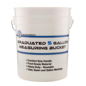 Graduated Measuring Bucket 5 Gallon