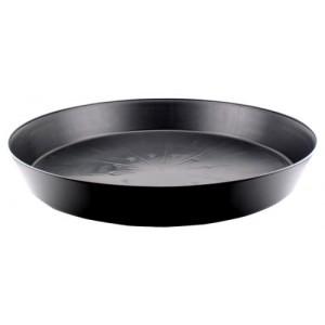 Black Premium Plastic Saucer 25 in 5perCs