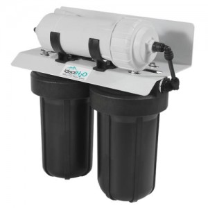 Ideal H2O Commercial 3 Stage RO System wper Catalytic Carbon Pre Filter  600 GPD