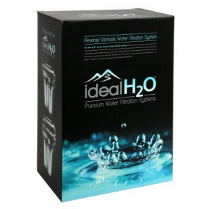 Ideal H2O Premium 3 Stage RO System wper Coconut Carbon Pre Filter + PSI Gauge  100 GPD