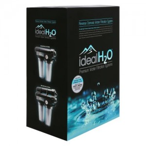 Ideal H2O Premium 3 Stage RO System wper Upgraded Catalytic Carbon Pre Filter + PSI Gauge  100 GPD