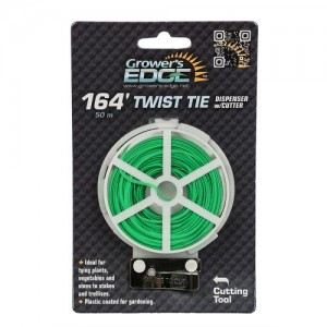 Grower's Edge Green Twist Tie Dispenser wper Cutter  164 ft 6perCs