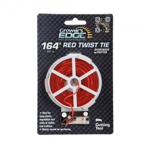 Grower's Edge Red Twist Tie Dispenser wper Cutter 164 ft 6perCs