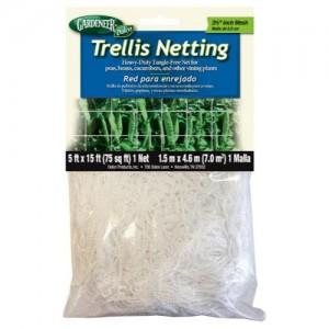 Gardeneer Trellis Netting 5 ft x 15 ft wper 3.5 in Holes 12perCs