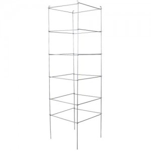 High Stakes Commercial Grade Folding Tomato Cage  6 Tier  72 in x 21 in x 21 in