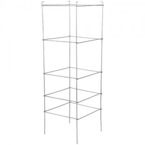 Grower's Edge High Stakes Folding Tomato Cage  5 Tier  48 in x 15 in x 15 in