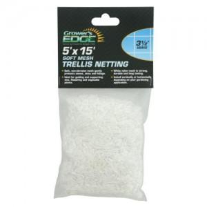 Grower's Edge Soft Mesh Trellis Netting 5 ft x 15 ft wper 3.5 in Squares 12perCs