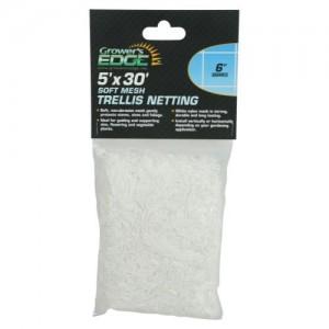 Grower's Edge Soft Mesh Trellis Netting 5 ft x 30 ft wper 6 in Squares 12perCs