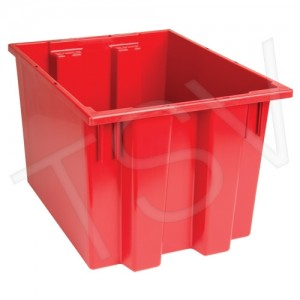 """Stack & Nest Totes 13""""X19.5""""X15.5"""", Red"""