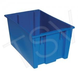 "Stack & Nest Totes Blue Inside: 25 1/8"" L X16 5/8"" W X 14 7/8"" H  3/CS"