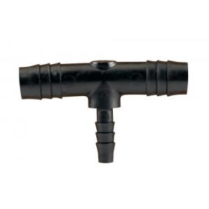 Barbed Reducer Tee 1per2 in to 1per4 in 10perBag
