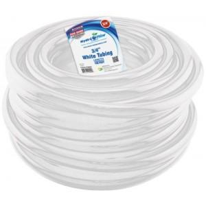 Hydro Flow Vinyl Tubing White 3per4 in ID    1 in OD 100 ft Roll