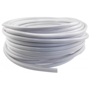 Hydro Flow Vinyl Tubing White 1per2 in ID    5per8 in OD 100 ft Roll