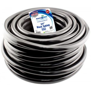Hydro Flow Vinyl Tubing Black 3per4 in ID   1 in OD 100 ft Roll