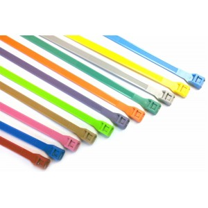 "Cable Ties, 11"" Fluorescent Pink 1000/Pkg"