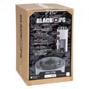 Black Ops Carbon Filter 6 in x 16 in 400 CFM