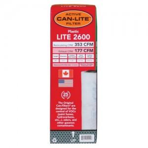Can Lite Filter 2600 Plastic wper out Flange 353 CFM