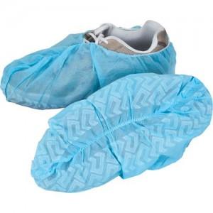 Premium Polypropylene Shoe Cover, Anti-Skid, Large, Blue, 1000 per case