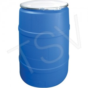 Polyethylene Drums Drum Size: 30 US gal. (25 imp. Gal.) Lined/Unlined: Unlined Colour: Blue Open Top/Closed Top: Open Top