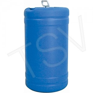 Drum Polyethylene -Tight Head, Closed Top Blue 15 Gal.