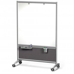 Dry Ease Partition, 4'X6', Magnetic, Two Sided, Casters