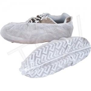 Shoe Covers, Polypropylene, White, Anti-Skid, 100 per bag