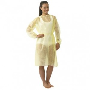 Isolation Gown with Ties - X-Large, Polypropylene ,50 per case