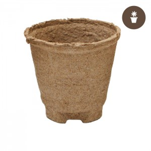 4''x3.75'' Round Jiffy Peat Pot (Case of 1100 pots)