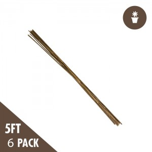 5' Natural Bamboo Stakes Heavy Duty (6-pack)