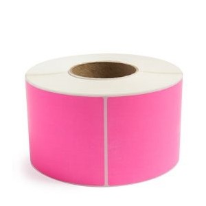 "Direct Thermal Labels 2""X3"" Pink 500/Roll, 1""Core,12Roll/CS"