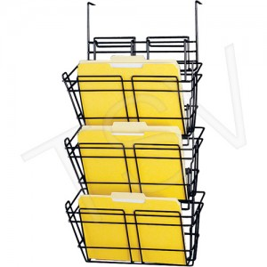 Panelmate ® Triple Basket File Wall Holder