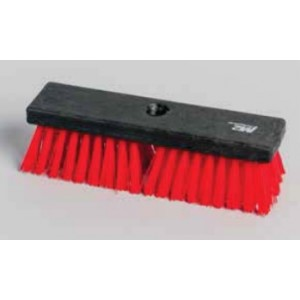 "10"" Scrubbing Brush Stiff w/Threaded Hole Plastic Block w/54"" Metal Handle Pack of 4       Price Per    EA"