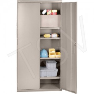"All-Welded Hi-Boy Storage Cabinet Height: 72"" Width: 36"" Depth: 18"" No. of Shelves: 4"