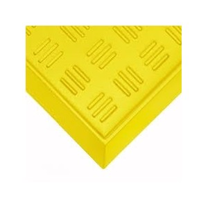 "Chemical Footbath 31"" x 38"" Sole-Solution Foot Bath Sanitation Mat Yellow"