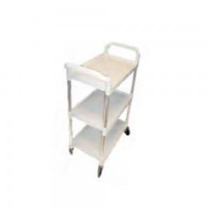 BUSSING CART, 3 TIER - GREY