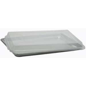 "Full Size Plastic Sheet Pan Cover, NSF, BPA Free, Food Safe, 26""  x 18"" x 2.25"""