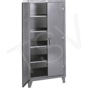 "Storage Cabinet 72""HX72""WX24""D, 4 Shelves, Grey, Steel, Shelf Cap 1525Lbs"