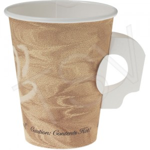 8oz Paper Coffee Cup /w Handle