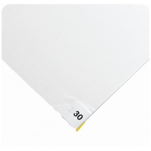 Clean Room Tacky Mat Width: 3' Length: 5' Thickness: 40 mics, 4 x 30 Sheets, White