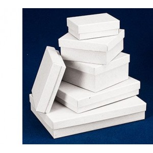 "Boxes 8.5x11x2"", Rigid Set-up, White, Semi Gloss Top, 20/Carton"