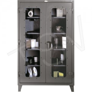 """Clearview Cabinets Height: 72"""" Width: 48"""" Depth: 24"""" No. of Shelves: 4"""