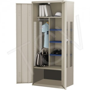 """All-Welded Deluxe Gear Locker Overall Depth: 24"""" Overall Height: 72"""" Overall Width: 36"""" Colour: Beige"""