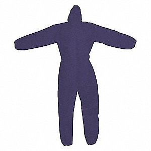 Medium-weight Polypropylene Coverall, Hood, Elastic Sleeves and Ankles, 25 / case