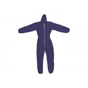 Light-weight Polypropylene Coverall, Hood, Elastic Sleeves and Ankles, 50 / case
