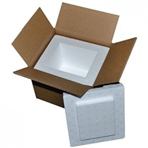 "Insulated Foam Shipping Kit - 17X10X10.5"", 1.5""Thick walls,"