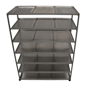 Drying Rack, 20 Trays, Mobile, 7 Shelves, Stainless Steel 304