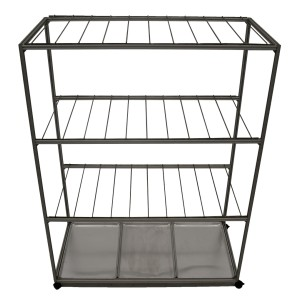 Drying Cart, Mobile, 4 Shelves, 3 Trays, 304 Stainless